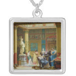 The Fluteplayer' and 'The Diomedes' wife' Square Pendant Necklace