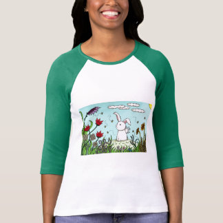 The Flutterby Bunny and the Bumble Bees T-Shirt