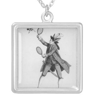 The Fly Catching Macaroni Silver Plated Necklace