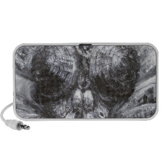 The Fly Head surreal realism Notebook Speakers