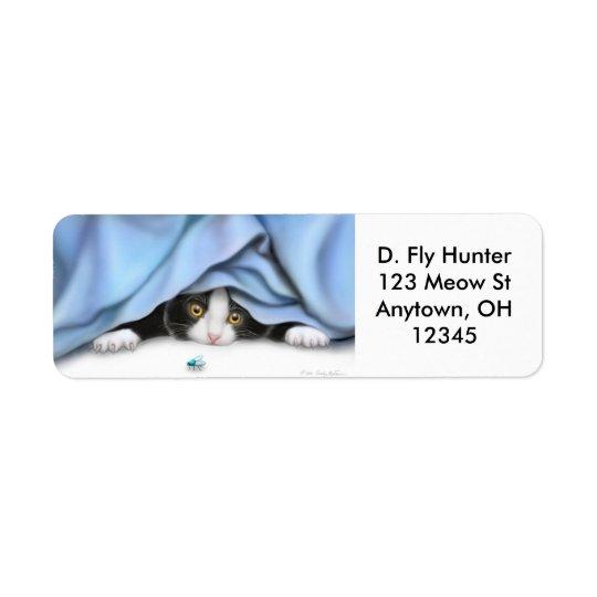 The Fly Hunter Cat Label Return Address Label