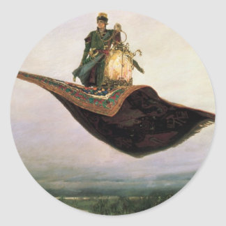The Flying Carpet Classic Round Sticker