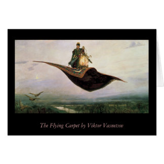 The Flying Carpet Greeting Card