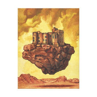 The flying castle canvas print