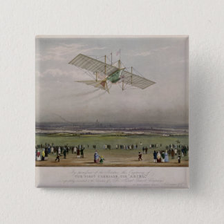 The Flying Machine 15 Cm Square Badge
