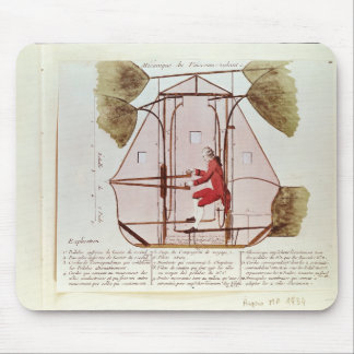 The Flying Machine of Jean Pierre Blanchard Mouse Mat