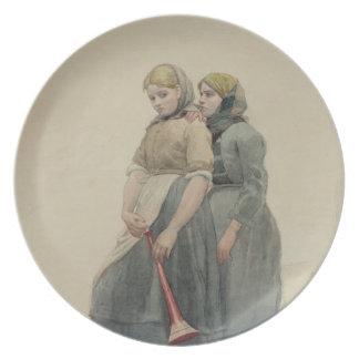The Foghorn, 1883 (w/c) Plate