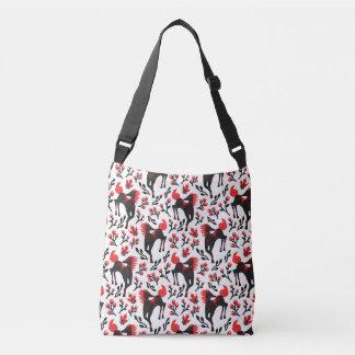 The Folk Art Horses Vector Seamless Pattern Crossbody Bag