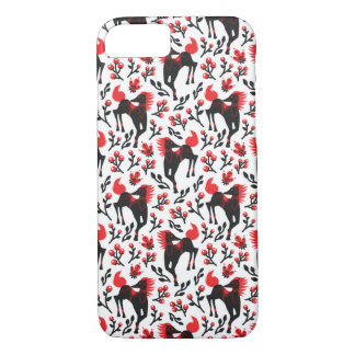 The Folk Art Horses Vector Seamless Pattern iPhone 8/7 Case