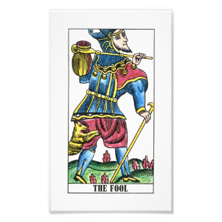 The Fool or Jester Tarot Card Photographic Print