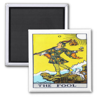 The Fool Square Magnet
