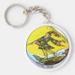 The Fool Tarot Card Basic Round Button Key Ring