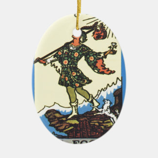 The Fool Tarot Card Fortune Teller Ceramic Oval Decoration