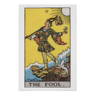 The Fool Tarot Card Poster