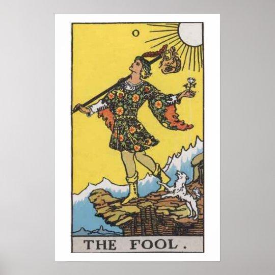 The Fool Tarot Card Poster