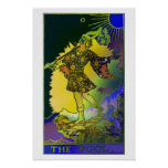 The Fool Tarot Card Psychedelic Poster