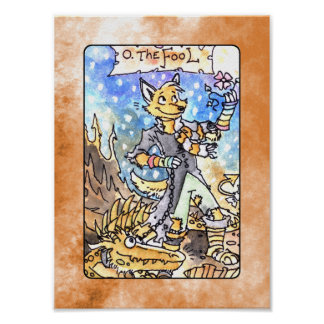 The Fool Tarot Deck Poster