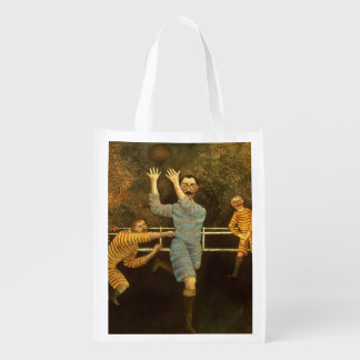 The Football players,1908 (oil on canvas) Reusable Grocery Bag