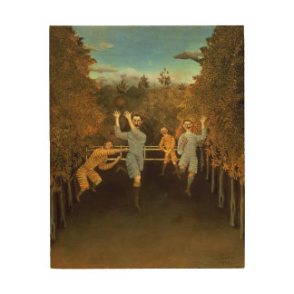 The Football players,1908 (oil on canvas) Wood Prints