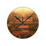 The Forbidden City Round Clock