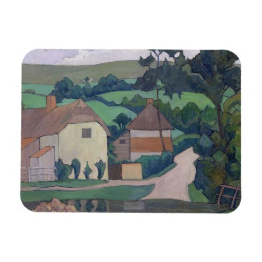 The Ford (oil on canvas) Rectangular Magnets