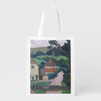 The Ford (oil on canvas) Reusable Grocery Bags