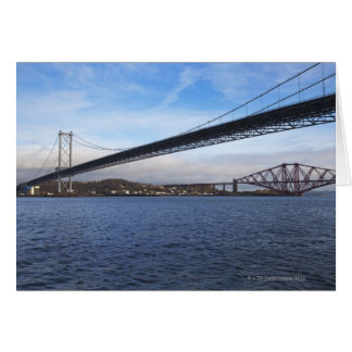 The foreground Forth Road Bridge is a suspension b Greeting Card