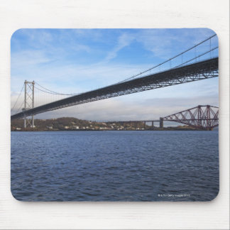 The foreground Forth Road Bridge is a suspension b Mouse Pad