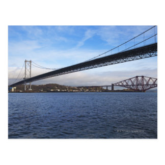 The foreground Forth Road Bridge is a suspension b Postcard