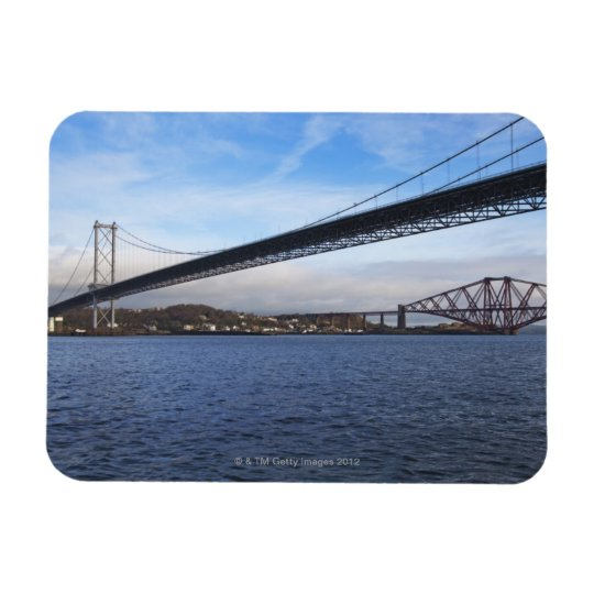 The foreground Forth Road Bridge is a suspension