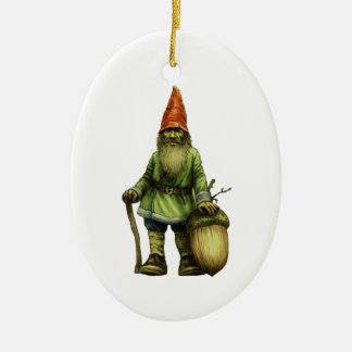THE FOREST GNOME CERAMIC OVAL DECORATION