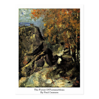 The Forest Of Fontainebleau By Paul Cezanne Postcard