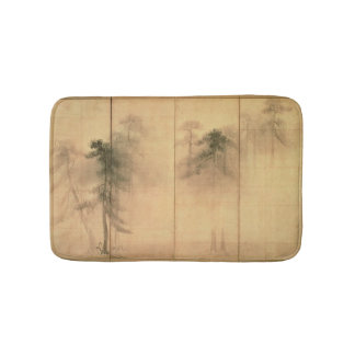 The forest of pines bath mats