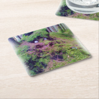 The Forest Troll Square Paper Coaster