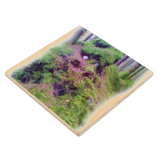 The Forest Troll Maple Wood Coaster