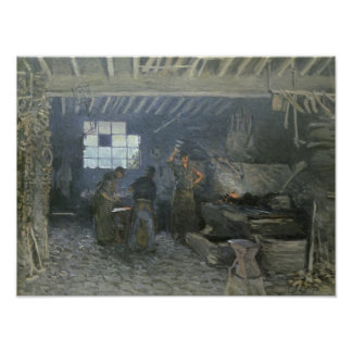 The Forge at Marly-le-Roi, Yvelines, 1875 Poster