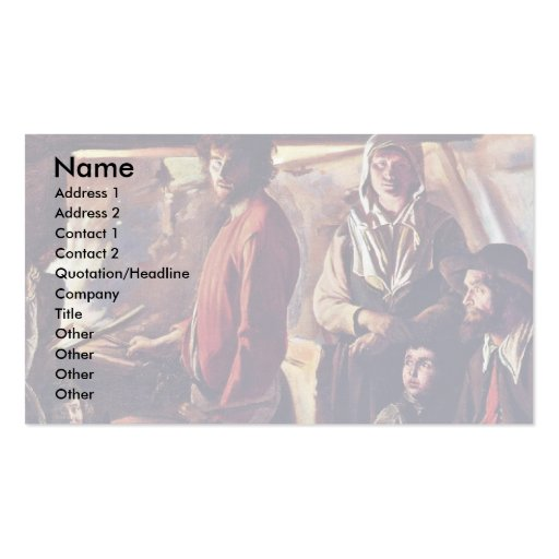 The Forge (C.) In His Workshop By Le Nain Louis (B Business Card Templates