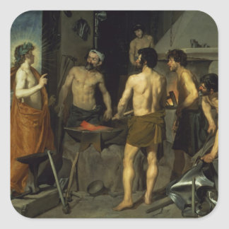 The Forge of Vulcan, 1630 Square Sticker