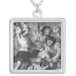 The Forge of Vulcan Silver Plated Necklace