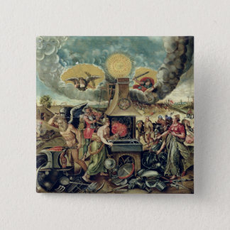 The Forges of Vulcan with Time Turning Weapons 15 Cm Square Badge