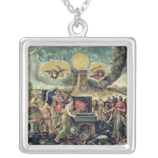 The Forges of Vulcan with Time Turning Weapons Silver Plated Necklace