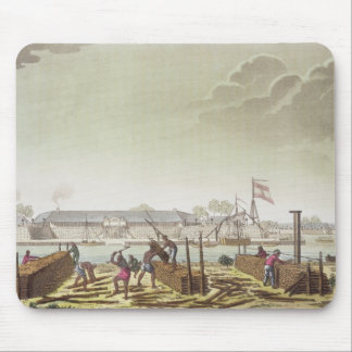 The Fort at Batavia with Native Loggers, plate 50 Mouse Pad