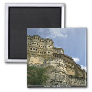 The Fort, Jaipur, Rajasthan, India Square Magnet