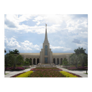 The Fort Lauderdale Florida LDS Temple Postcard