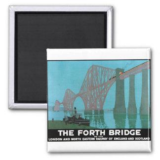 The Forth Bridge - North Eastern Railway Square Magnet