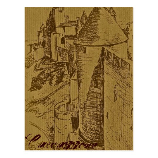 The Fortress of Carcassone Postcard