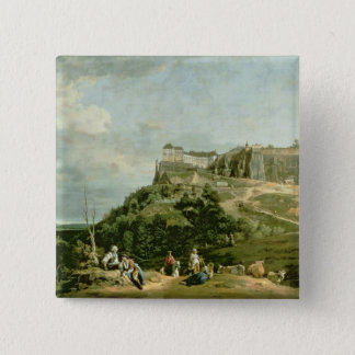 The Fortress of Konigstein, 18th century 15 Cm Square Badge