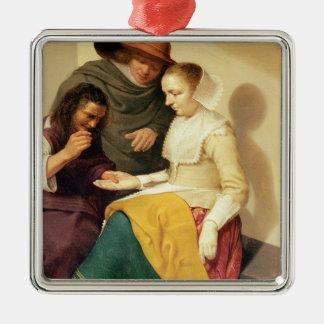 The Fortune Teller, 1631 Silver-Colored Square Decoration