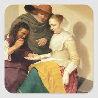 The Fortune Teller, 1631 Square Sticker