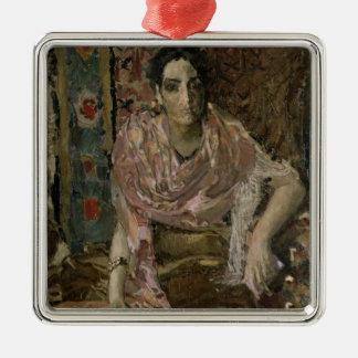 The Fortune Teller, 1895 Silver-Colored Square Decoration